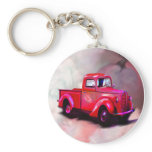 1939, red, pickup, truck, keychain, transportation