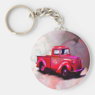 1939 Red Pickup Truck Keychain