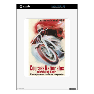 1939 Swiss National Motorcycle Racing Championship Decal For iPad