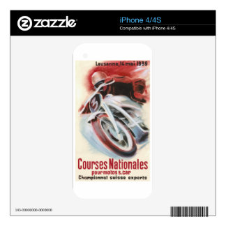 1939 Swiss National Motorcycle Racing Championship iPhone 4S Skins