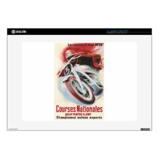 "1939 Swiss National Motorcycle Racing Championship Skins For 15"" Laptops"