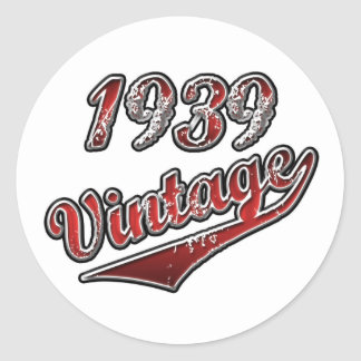 1939 Vintage Classic Round Sticker