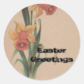 1939 Vintage Easter Design Classic Round Sticker