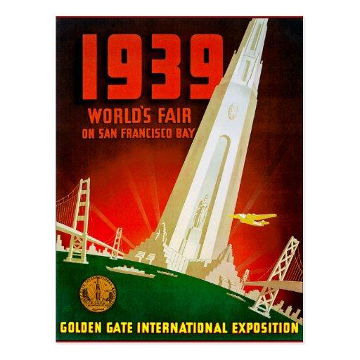 1939 World Fair San Francisco Postcard