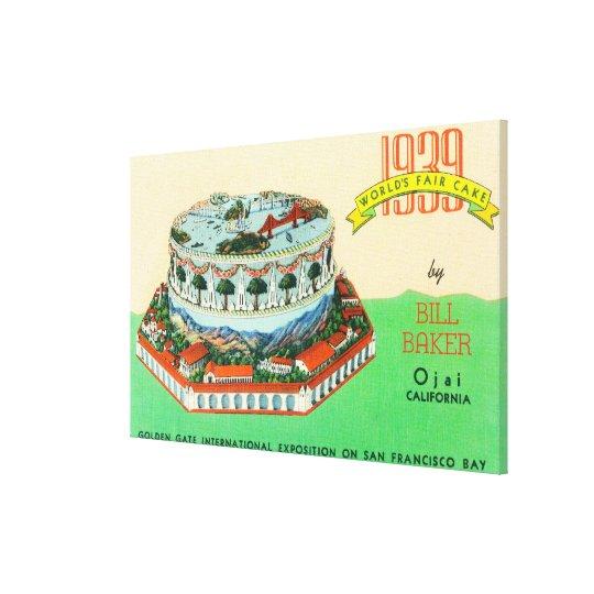 1939 Worlds Fair Cake by Bill Baker in Ojai Canvas Print