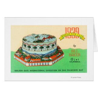 1939 Worlds Fair Cake by Bill Baker in Ojai Greeting Card