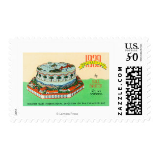 1939 Worlds Fair Cake by Bill Baker in Ojai Postage