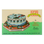 1939 Worlds Fair Cake by Bill Baker in Ojai Poster