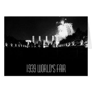 1939 Worlds Fair Card