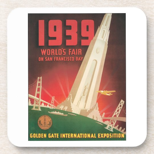 1939 World's Fair San Francisco Bay Beverage Coaster
