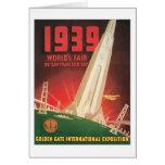 1939 World's Fair San Francisco Bay Greeting Card
