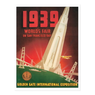 1939 World's Fair San Francisco Bay Postcards