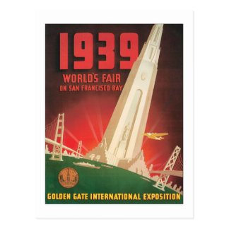 1939 World's Fair San Francisco Bay Postcard