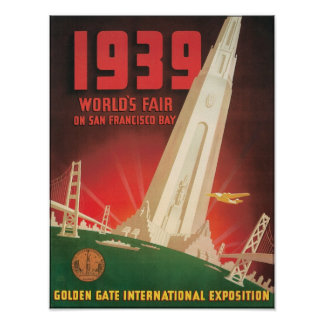 1939 World's Fair San Francisco Bay Print