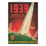 1939 World's Fair San Francisco Travel Poster Card