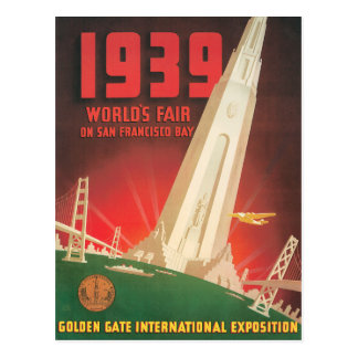 1939 World's Fair San Francisco Travel Poster Postcard