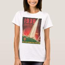 1939 World's Fair San Francisco Travel Poster T-Shirt