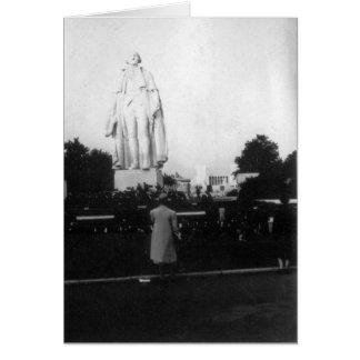 1939 World's Fair Statue Card
