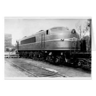1939 World's Fair Train On Display New Haven Card