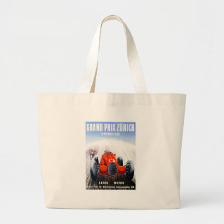 1939 Zurich Grand Prix Racing Poster Large Tote Bag