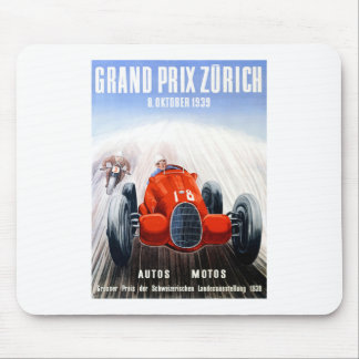 1939 Zurich Grand Prix Racing Poster Mouse Pad