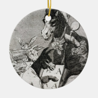 193-0082137 Might not the pupil know more?, plate Double-Sided Ceramic Round Christmas Ornament