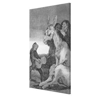193-0082138 Bravo!, a caricature of musical evenin Canvas Print
