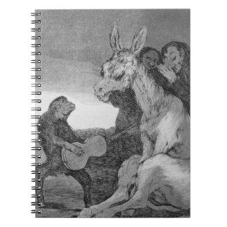 ¡193-0082138 bravo! , una caricatura del evenin mu libros de apuntes con espiral