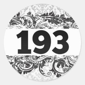 193 ETIQUETA REDONDA