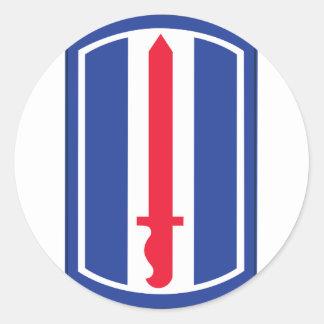 193o División de infantería Pegatina Redonda