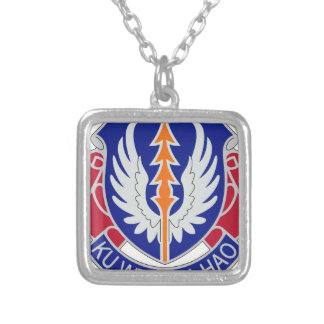 193rd Aviation Regiment Silver Plated Necklace