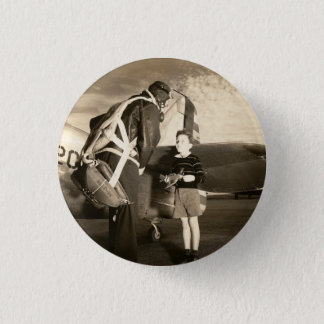 1940 American military pilot and young boy Button