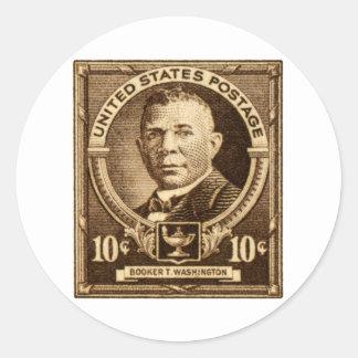 1940 Booker T. Washington Stamp Classic Round Sticker