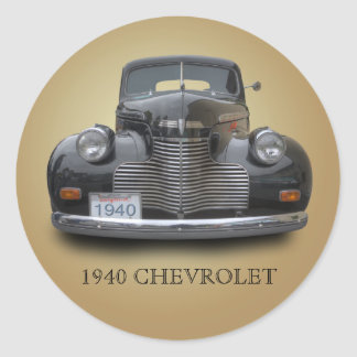 1940 CHEVROLET 1 CLASSIC ROUND STICKER
