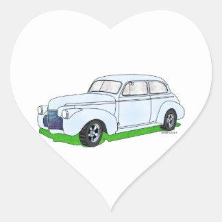 1940 Chevrolet 2 Door Sedan Heart Sticker