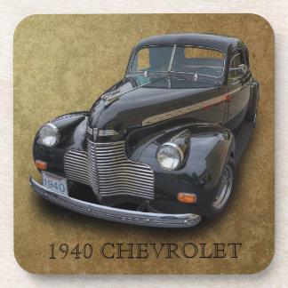 1940 CHEVROLET 2 DRINK COASTER