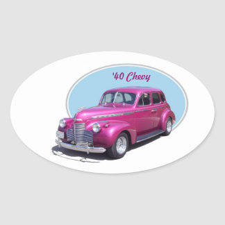 1940 Chevy Oval Sticker