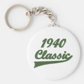 1940 Classic Basic Round Button Keychain
