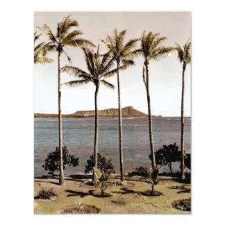 "1940 Diamond Head Hawaii 4.25"" X 5.5"" Invitation Card"