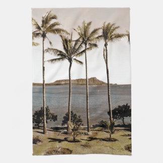 1940 Diamond Head Hawaii Kitchen Towel
