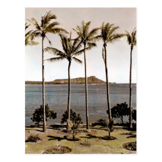 1940 Diamond Head Hawaii Postcard