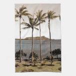 1940 Diamond Head Hawaii Towels