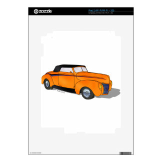 1940 Ford Standard Convertible - Orange iPad 2 Decal
