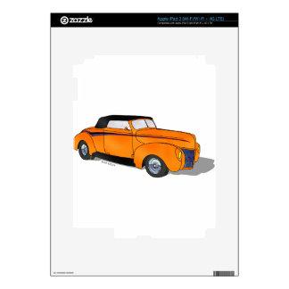 1940 Ford Standard Convertible - Orange iPad 3 Decals