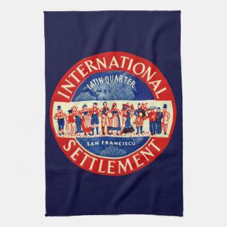 1940 International Settlement San Francisco Kitchen Towels