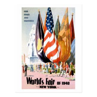 1940 New York World's Fair Postcard