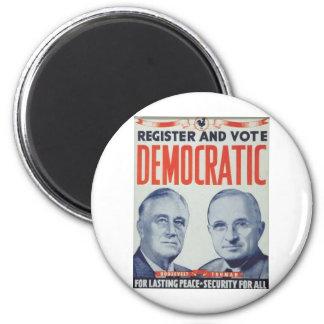 1940 Roosevelt - Truman 2 Inch Round Magnet