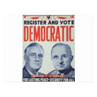 1940 Roosevelt - Truman Postcard