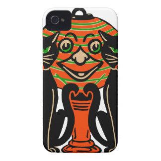 1940 Vintage Halloween Black Cats iPhone 4 Case