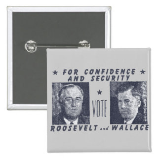 1940 Vote Roosevelt + Wallace, gray Pins